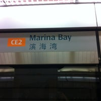 Photo taken at Marina Bay MRT Interchange (NS27/CE2) by Masami on 2/25/2012