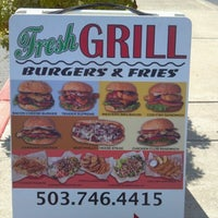 Photo taken at Fresh Grill Burgers & Fries by Jenna R. on 7/28/2012