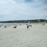 Photo taken at Easton's Beach by Andrew K. on 8/19/2012