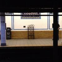 Photo taken at MTA Subway - 116th St/Columbia University (1) by Jeffrey P. on 6/28/2012