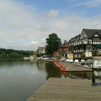 Photo taken at Boathouse Row by Nick G. on 7/23/2012