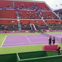 Photo taken at Qatar Tennis Federation by Moataz K. on 2/18/2012