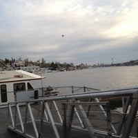 Photo taken at Ivar's Salmon House by Flavia v. on 4/3/2012