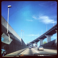 Photo taken at The Queen Elizabeth II Bridge by Andrzej M. on 9/8/2012