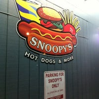 Photo taken at Snoopy's Hot Dogs & More by Regina T. on 8/11/2012