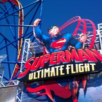 Photo taken at Superman Ultimate Flight by Eric L. on 8/8/2012