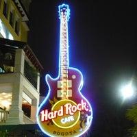 Photo taken at Hard Rock Cafe Bogota by Jacky V. on 7/22/2012
