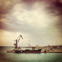Photo taken at Port of Heraklion by Thomas P. on 4/13/2012