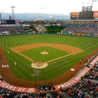 Photo taken at Angel Stadium of Anaheim by Mark on 8/27/2012