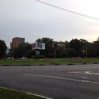 Photo taken at Площадь Ромена Роллана by Ivan L. on 9/2/2012