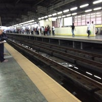 Photo taken at Yellow Line - Araneta Center-Cubao Station by Angela R. on 7/24/2012