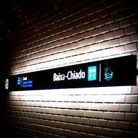 Photo taken at Metro Baixa-Chiado [AZ,VD] by Cindy C. on 4/6/2012