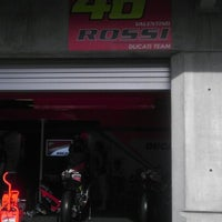 Photo taken at Valentino.Rossi's pit moto.gp.indy by Tomboy Barbie Photography B. on 8/18/2012
