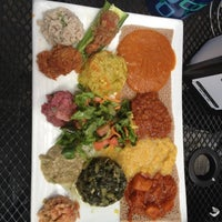 Photo taken at Desta Ethiopian Kitchen by Amour C. on 4/13/2012