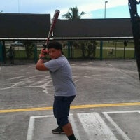 Photo taken at Sluggers Batting Cages by Patricia S. on 8/21/2012