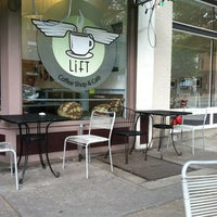 Photo taken at Lift Coffee Shop & Café by Chris P. on 5/17/2012