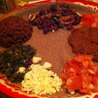 Photo taken at Bayu's Authentic Ethiopian Cuisine by Words and Nosh on 3/19/2012