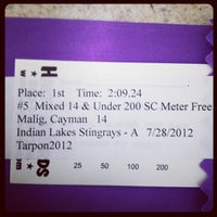 Photo taken at Indian Lakes Stingrays Swim Team by Gerry M. on 7/28/2012