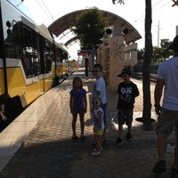 Photo taken at Downtown Garland Station (DART Rail) by Brittney T. on 8/11/2012