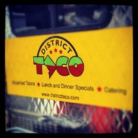 Photo taken at District Taco by Activ8Social on 7/26/2012