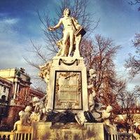 Photo taken at Burggarten by Denise V. on 3/4/2012