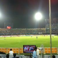 Photo taken at Rajiv Gandhi Cricket Stadium by Paramveer S. on 5/18/2012