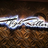 Photo taken at High Rollers Luxury Lanes & Lounge by Naomi M. on 2/16/2012