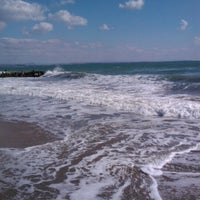 Photo taken at Централен Плаж Бургас (Burgas Central Beach) by Zhivko Z. on 9/2/2012