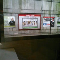 Photo taken at MBTA Quincy Adams Station by Emily A. on 8/3/2012