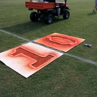 Photo taken at Acworth Warriors Football Field by Sean A. on 8/24/2012
