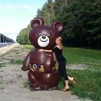 Photo taken at Олімпійский ведмедик / Olimpic Bear Monument by Alëna I. on 6/23/2012