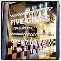 Photo taken at Five Guys by Trent V. on 2/15/2012