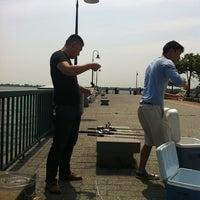 Photo taken at Canarsie Pier by Winnie N. on 5/26/2012