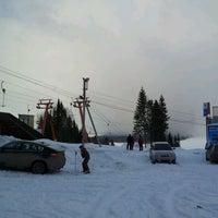 "Photo taken at Горнолыжный курорт ""Жебреи"" by Aleksandr Z. on 3/28/2012"