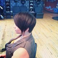 Photo taken at Milios Hair Studio by Katie L. on 8/15/2012