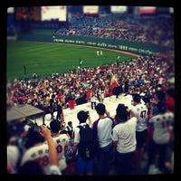 Photo taken at Sajik Baseball Stadium by daw S. on 8/18/2012