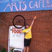 Photo taken at Station North Arts Cafe Gallery by Pam M. on 7/2/2012