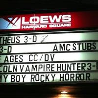 Photo taken at AMC Loews Harvard Square by Toby C. on 6/24/2012