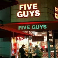 Photo taken at Five Guys by Babak L. on 4/20/2012