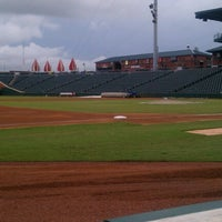 Photo taken at Bragan Field at the Baseball Grounds of Jacksonville by Amanda M. on 8/8/2012