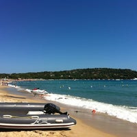 Photo taken at Plage de Pampelonne by Alessandra B. on 8/27/2012