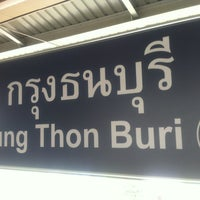 Photo taken at BTS Krung Thon Buri (S7) by T-Ra S. on 3/27/2012