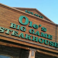 Photo taken at Ole's Big Game Steakhouse by Joshua R. on 8/16/2012