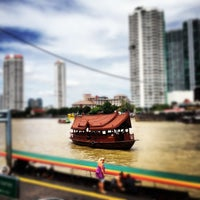 Photo taken at Sathorn (Taksin) Pier (CEN) by Jirawan T. on 8/13/2012