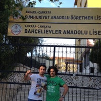 Photo taken at Bahçelievler Anadolu Lisesi by Hazal T. on 8/31/2012