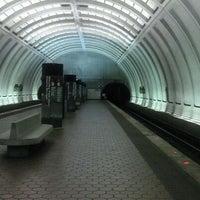 Photo taken at Woodley Park-Zoo/Adams Morgan Metro Station by Evan on 4/3/2012