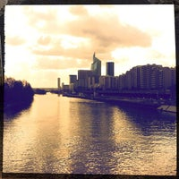 Photo taken at Pont de Courbevoie by Absatou N. on 3/8/2012