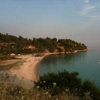 Photo taken at Koviou Beach by Nasia P. on 6/23/2012