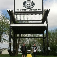 Photo taken at World's Largest Rocking Chair by /\/ X / / \/ on 3/25/2012