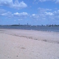 Photo taken at Wollaston Beach by Nicholas B. on 7/3/2012